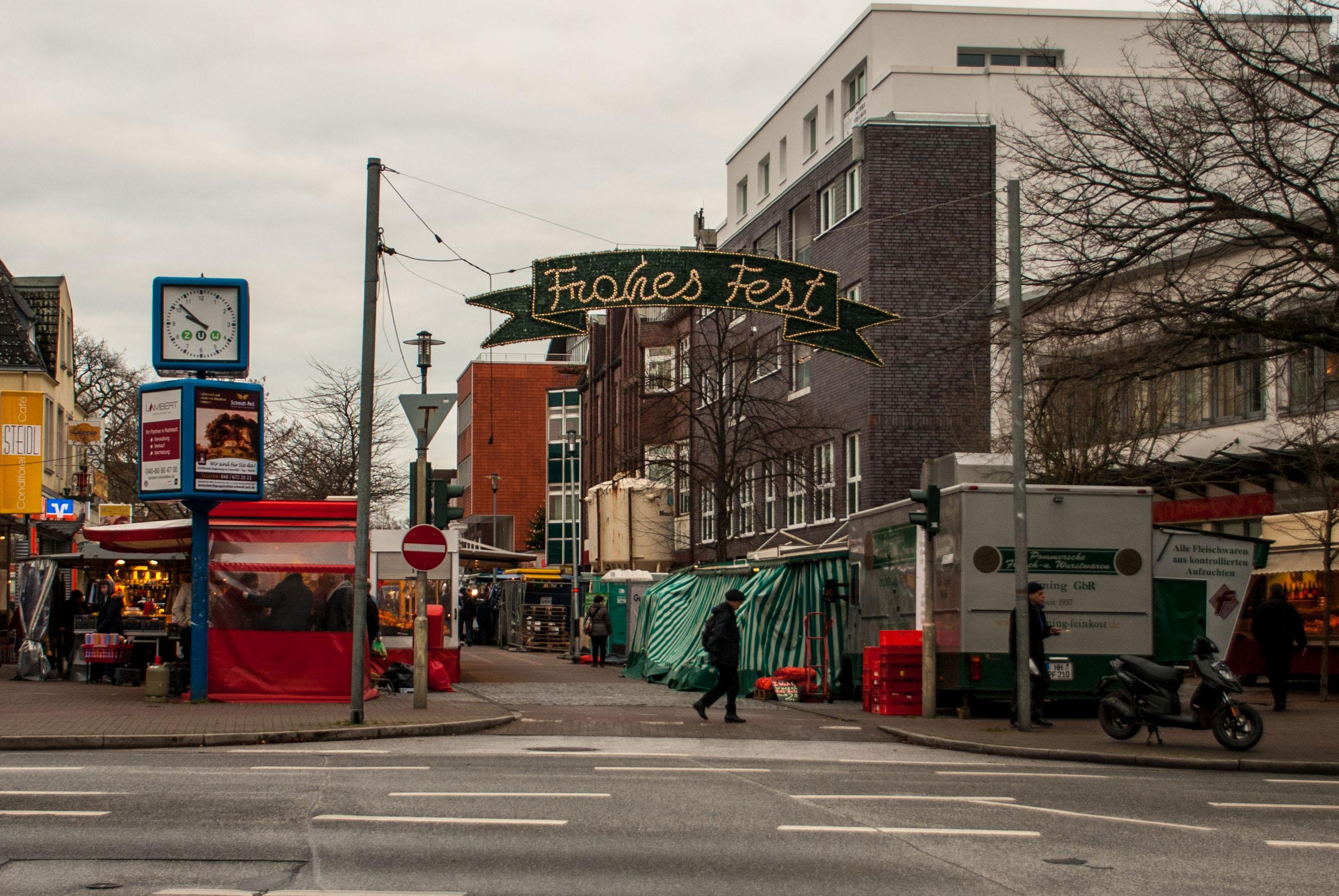Wochenmarkt in der Rahlstedter Bahnhofstraße