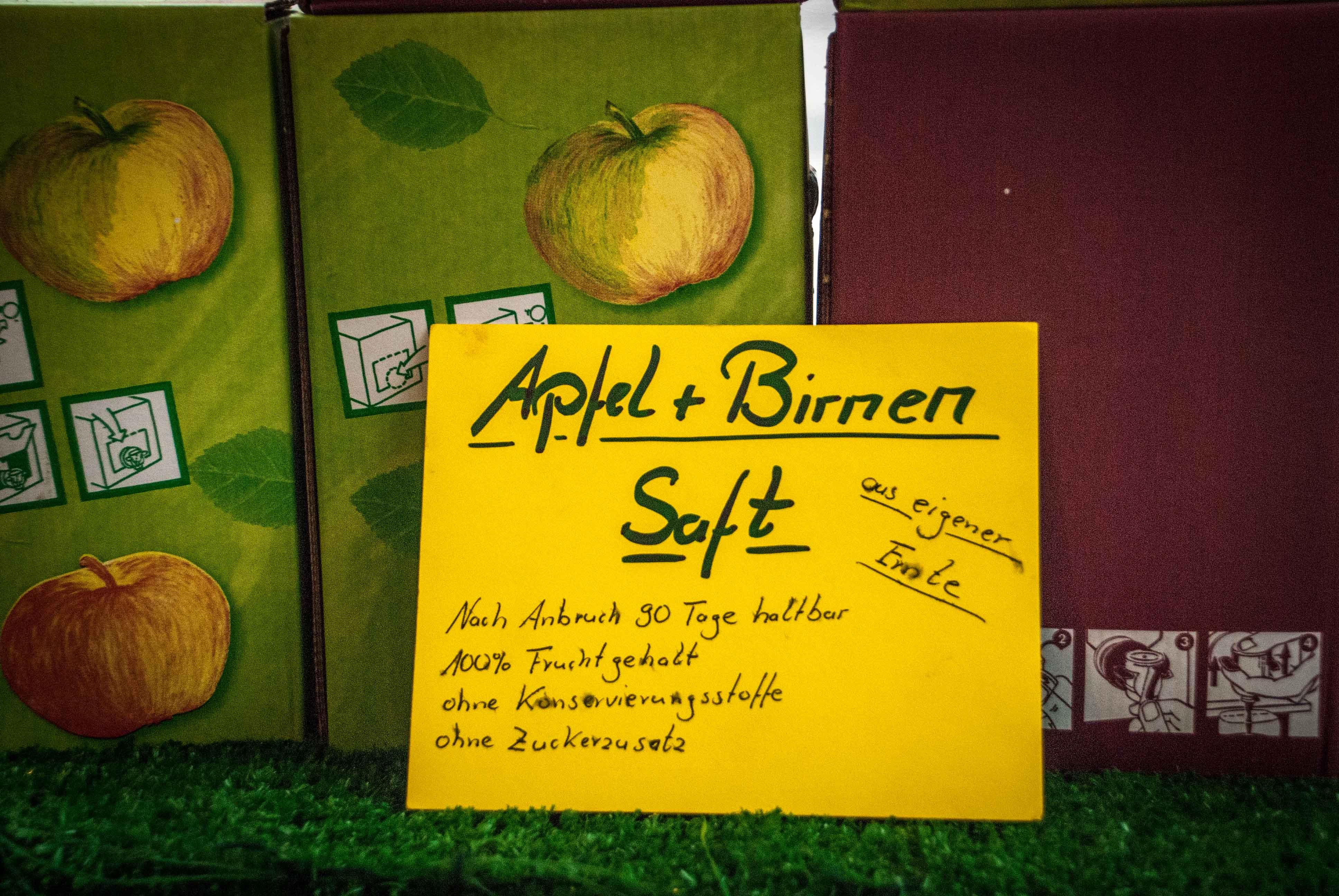 Apfel- und Birnensaft